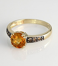 Effy® Brown Diamond & Citrine Ring