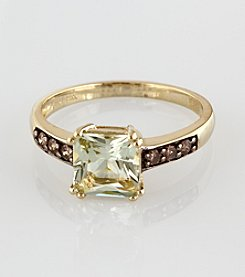 Effy® Brown Diamond & Green Amethyst Ring