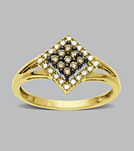 .25 ct. t.w. Diamond and Chocolate Diamond Ring