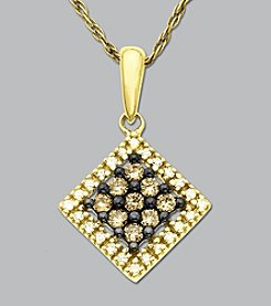 .25 ct. t.w. Diamond and Brown Diamond Pendant