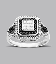 .50 ct. t.w. Black Diamond Ring