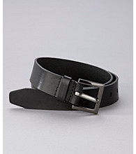 Calvin Klein Jeans® Leather Belt with Harness Buckle - Black