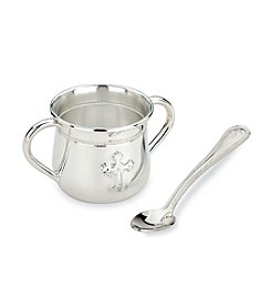 Reed & Barton® Abbey 2-Handle Baby's Cup & Infant Feeding Spoon