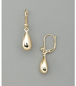 Lauren Ralph Lauren Shiny Goldtone Teardrop Earrings