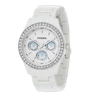 "Fossil® ""Stella"" White Resin Watch"