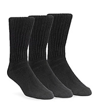Calvin Klein Men's 3-Pack Casual Rib Socks - Black