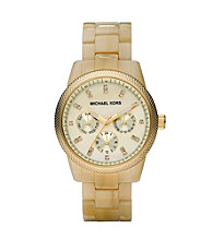 Michael Kors® Mother-of-Pearl Dial Watch - Champagne/Gold