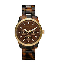 Michael Kors® Tortoise Shell Bracelet Watch - Gold