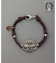 Lucky Brand® Luck ID Bracelet with Luck Tag - Brown