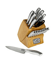Chicago Cutlery Insignia Steel 18-pc. Block Set with In Block Sharpener