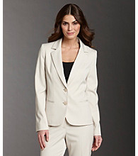 Anne Klein® 2-button Jacket - Heather Beechwood