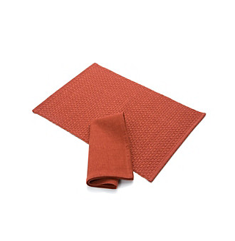 Hidalgo Place Mat & Napkin by LivingQuarters