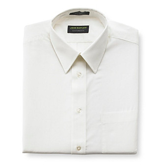John Bartlett Statements Men's Wear Perfect Broadcloth Dress Shirt - Foam