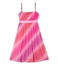 Amy Byer Girls' 7-16 Ombre Glitter Bubble Dress - Pink
