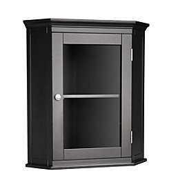 Elegant Home Fashions® Madison Avenue Corner Wall Cabinet - Dark Espresso