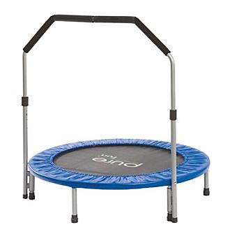 Pure Fun® 40 Inch Mini Exercise Trampoline with Handrail