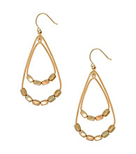 Kenneth Cole® Goldtone Bead Orbital Hoop Earrings