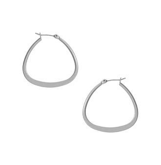 Kenneth Cole® Small Triangle Hoop Earrings - Silvertone