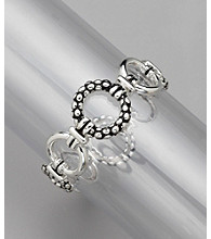 Napier® Silvertone Ring Stretch Bracelet