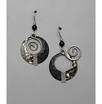 Silver Forest® Swirl Orbital Drop Earrings - Silvertone/Gray