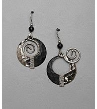 Silver Forest® Swirl Orbital Drop Earrings - Silvertone/Gray