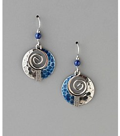 Silver Forest® Swirl Orbital Drop Earrings - Silvertone/Blue