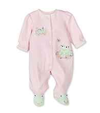 Little Me Baby Girls' Frog Footie - Pink