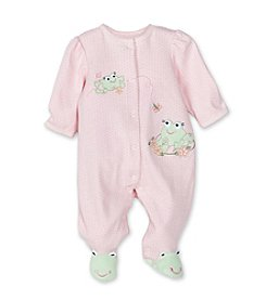 Little Me® Baby Girls' Frog Footie - Pink