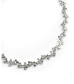 Givenchy® Crystal Collar Necklace - Silvertone