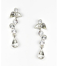Givenchy® Linear Crystal Earrings - Silvertone