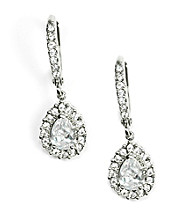 Givenchy® Tear Drop Pave Crystal Earrings