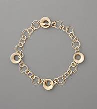 Anne Klein® Circle Chain Link Collar Necklace - Goldtone
