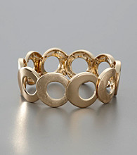 Anne Klein® Circle Stretch Bracelet - Goldtone