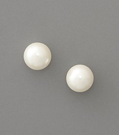 Lauren Ralph Lauren 10mm White Pearl Stud Earrings