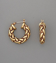 Lauren Ralph Lauren Goldtone Braided Hoop Earrings