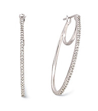.20 ct. t.w. Diamond Hoop Earrings