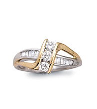 .50 ct. t.w. Three Diamond Ring