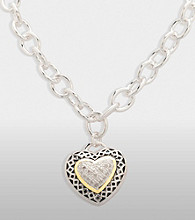 Diamond Center Heart Pendant