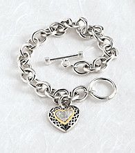 Diamond Center Heart Bracelet