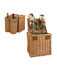 Picnic Time Vino Willow Basket Service for 2