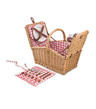 Piccadilly Willow Basket with Service for 2