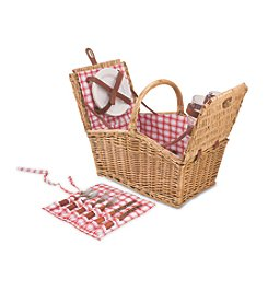 Picnic Time Piccadilly Willow Basket with Service for 2