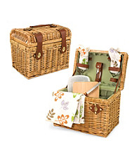 Picnic Time Napa-Botanica Willow Basket Service for 2