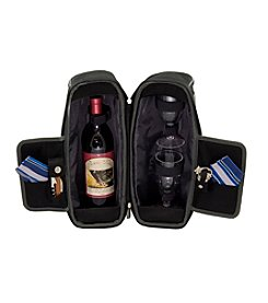 Picnic Time® Estate Single Bottle Wine Tote Service for 2
