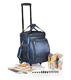 Picnic Time® Avalanche Hard-shell Cooler on Wheels Deluxe Service for 4