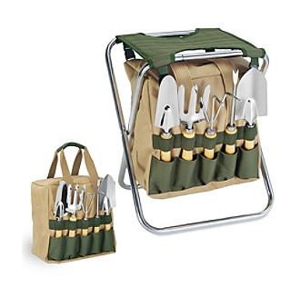 Picnic Time Gardener Folding Seat Tote