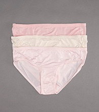 Jockey® Elance® 3-pk. Supersoft Bikini Briefs - Pale Cosmetic Assorted