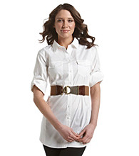 Fashion Focus Textured Stretch with Interlock Buckle Belt