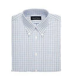 Kenneth Roberts Platinum® Broadcloth Tonal Grid Dress Shirt - Blue