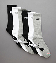 PUMA® Men's 6-Pack Athletic Crew Socks